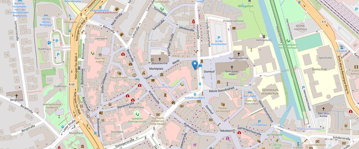 Kartenausschnitt Schulstiftung Osnabrück